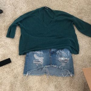 Cropped light sweater from urban outfitters